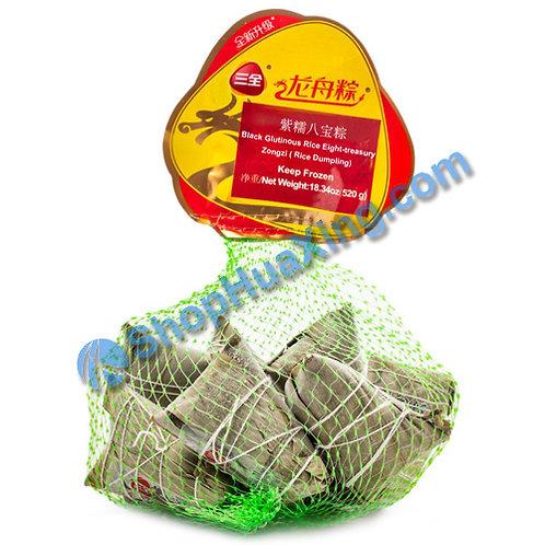 05 Black Glutinous Mixed Rice Dumpling 三全龙舟粽 紫糯八宝粽 网袋装 520g