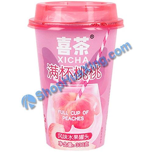 04 XiCha Canned Fruit Full Cup of Peach 喜茶 满杯桃桃风味水果罐头 330g