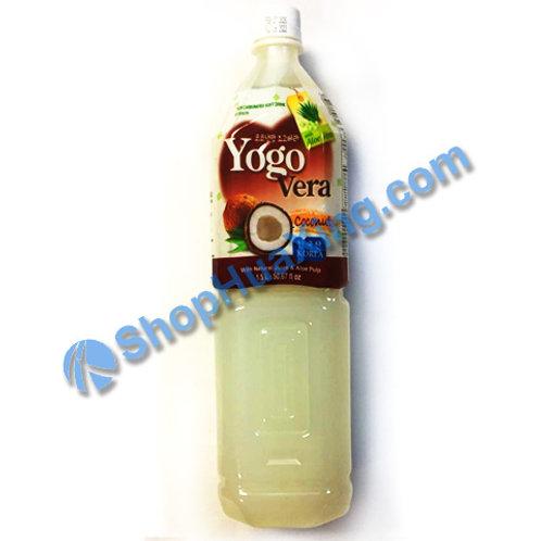 04 Yogurde Savila With Aloe Vera Coconut Flv 韩式乳酸饮料  椰子味 1.5L