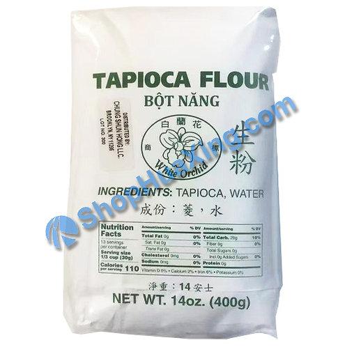03 White Orchid Tapioca Flour 白兰花 生粉 14oz