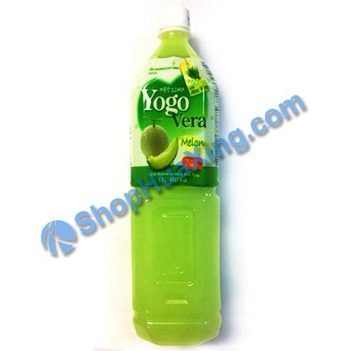 04 Yogurde Savila With Aloe Vera Melon Flv 韩式乳酸饮料  哈蜜瓜味 1.5L