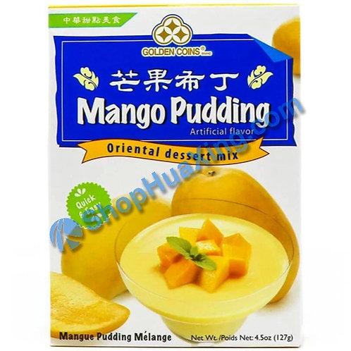 03 Golden Coins Mango Pudding Dessert Mix 三钱 芒果布丁粉 127g