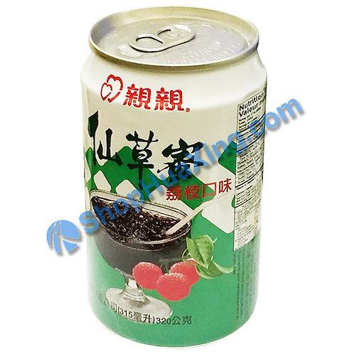 04 Chin Chin Grass Jelly Drink Lychee Flv. 亲亲仙草蜜 荔枝味 315ml