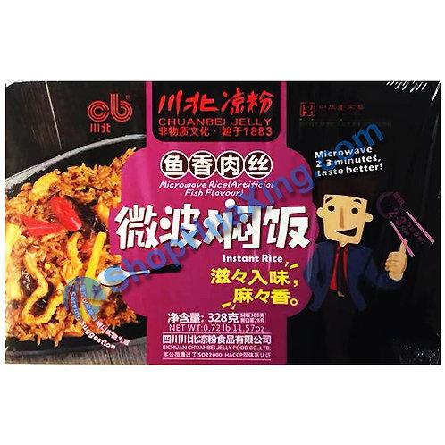 03 Microwave Instant Rice Artificial Fish Flv. 川北凉粉微波焖饭 鱼香肉丝 328g