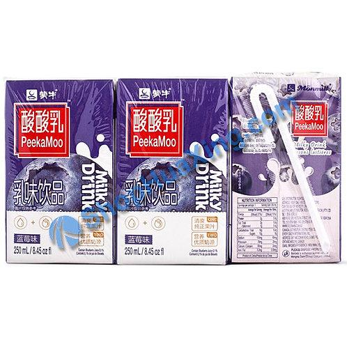 04 MN Milky Drink Blueberry Flv. 蒙牛酸酸乳 蓝莓味 6x250mL