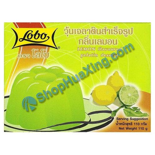 03 Lobo Lemon Flv. Gelatin Dessert 柠檬果冻粉 110g