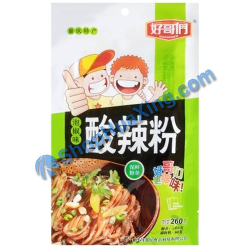 03 Instant Hot & Sour Noodle Green Chili 好哥们 泡椒味酸辣粉 260g