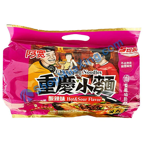 03 ChongQing Noodle Sour & Hot Flv 阿宽 重庆小面 酸辣味 5包 550g