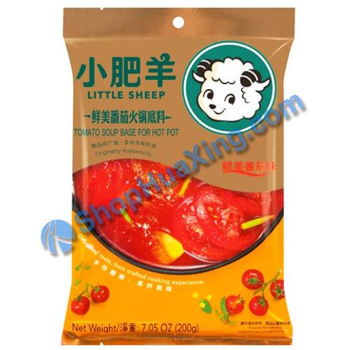 05 LS Plain Hot Pot Tomato Soup Base 小肥羊 鲜美番茄火锅底料 200g