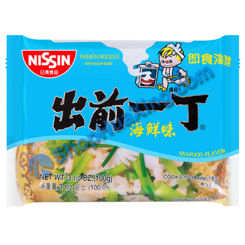 03 Nissin Seafood Flv Instant Noodle 出前一丁面 海鲜味 100g