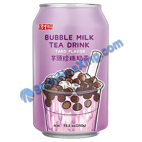 04 Bubble Milk Tea Drink Taro Flv. 红牌 芋头珍珠奶茶 350g