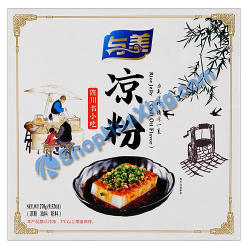 04 Rice Jelly Chili Oil Flv. 与美 凉粉 270g