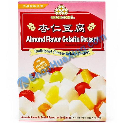03 Golden Coins Almond Flv. Gelatin Dessert 三钱 杏仁豆腐粉 198g