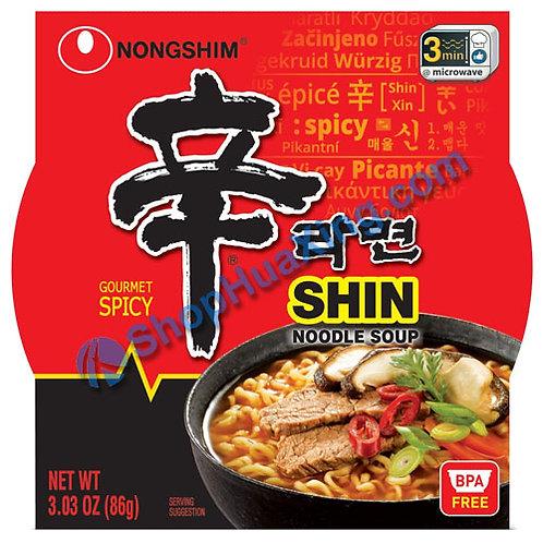 03 NongShim Shin Noodle Soup Gourmet Spicy 农心 辛拉面 碗装 86g