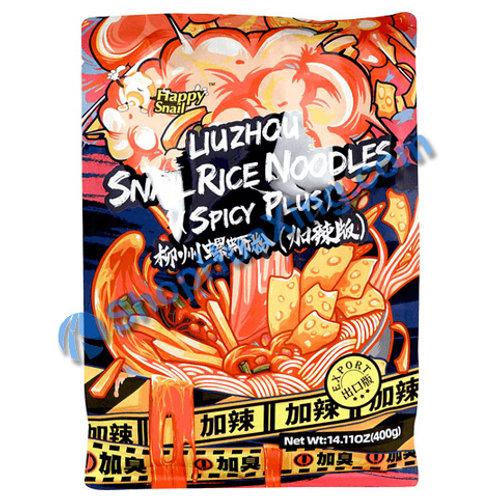 03 Happy Snail Rice Noodle Spicy Plus 柳州螺蛳粉 加辣版 400g