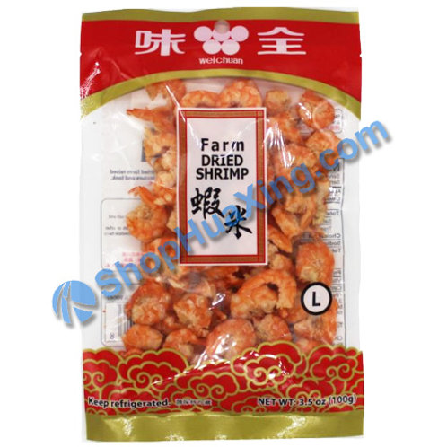01 Dried Shrimp L 味全 虾米 3.5oz