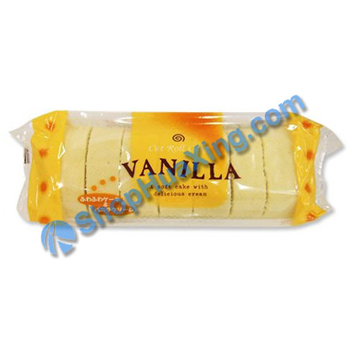 04 Cut Roll Cake Vanilla Flv 香草味切片蛋糕卷 220g