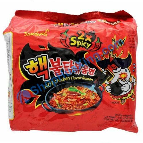 03 SamYang Hot Chicken Ramen 辣鸡拉面 辛辣 140gx5pkg