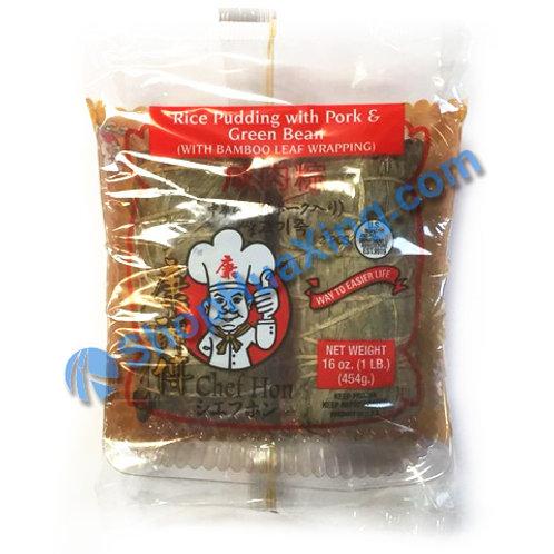 05 Chef Hon Rice Pudding w/ Pork & Green Bean 康师傅 咸肉粽 454g
