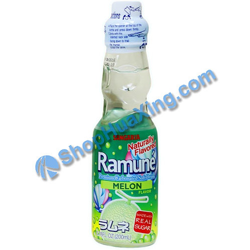 04 Sangaria Melon Flavor Ramune 弹珠汽水 蜜瓜味 200ml