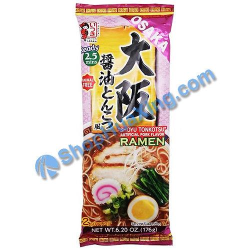 03 Itsuki Shoyu Tonkotsu Artificial Pork Flv Ramen 大阪酱油猪骨拉面 176g