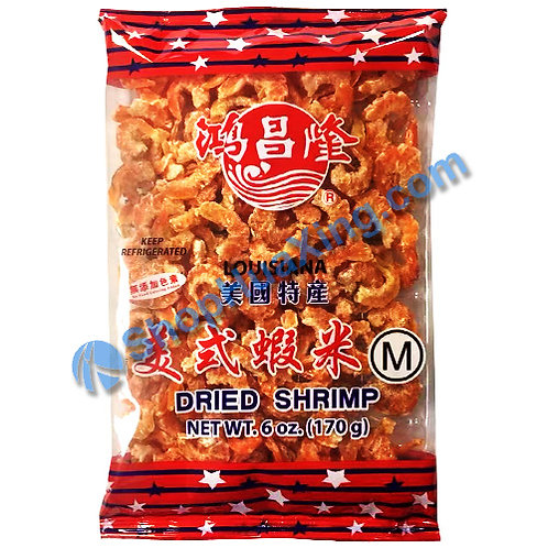 01 Dried Shrimp M 鸿昌隆 美式虾米 6oz
