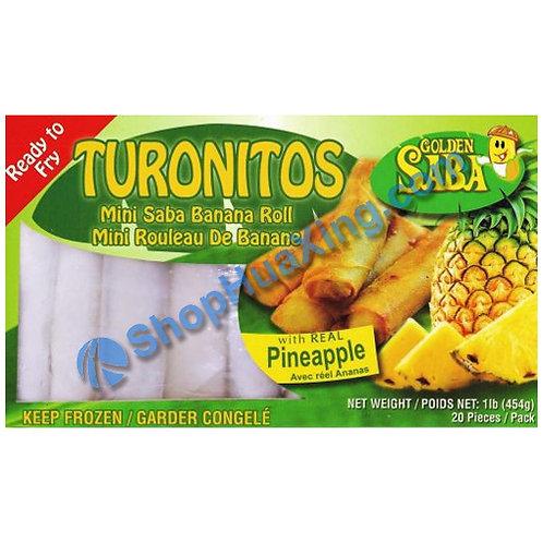 05 Mini Saba Banana Roll w. Pineapple 急冻迷你香蕉卷 菠萝 1LB