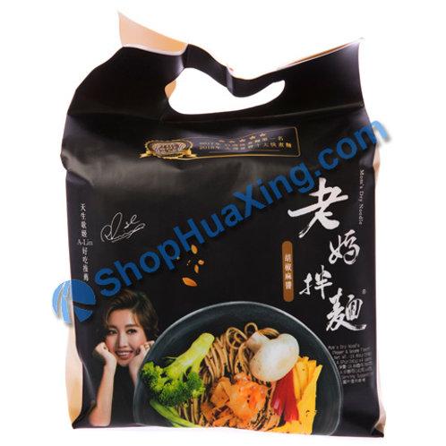 03 Mom's Dry Noodle Pepper & Sesame 老妈拌面 胡椒麻酱 564g