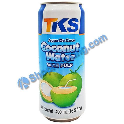 04 TKS Coconut Water W/ Pulp 天福 椰子水加果肉 490ml