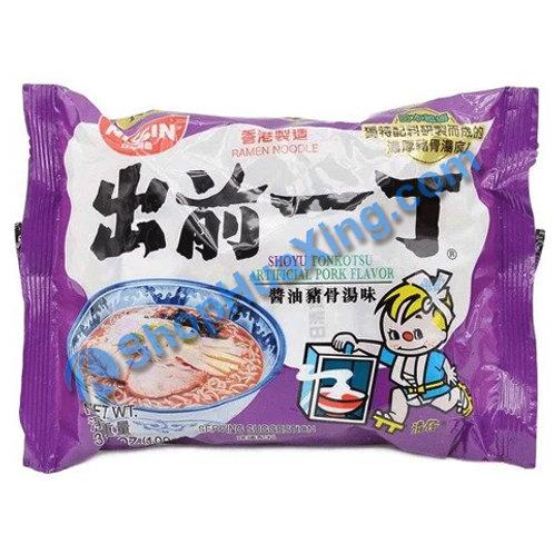 03 Nissin Shoyu Tonkotsu Flv Instant Noodle 出前一丁面 酱油猪骨汤味 100g
