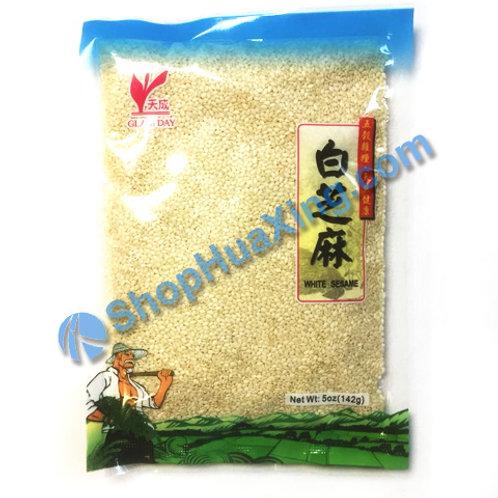 04 Dried White Sesame 天成 白芝麻 5oz