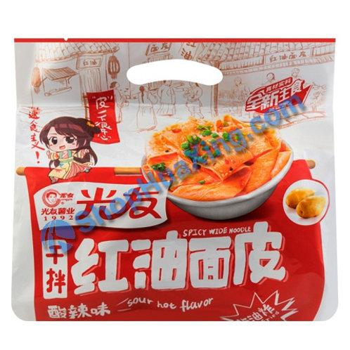 03 Sour Spicy Rice Noodle 光友干拌红油面皮 酸辣味 400g