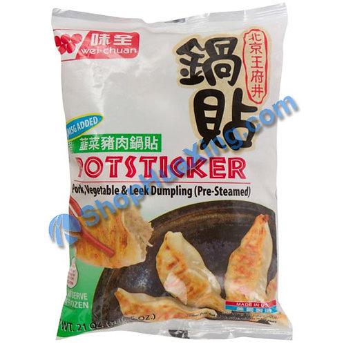 05 WC Chive Pork Potsticker 味全 北京王府井 韭菜猪肉锅贴 21oz