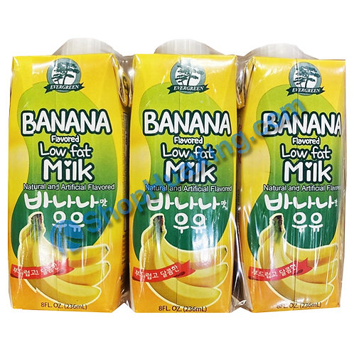 04 Banana Flv Milk Drink 韩国香蕉牛奶饮料 3X236ml