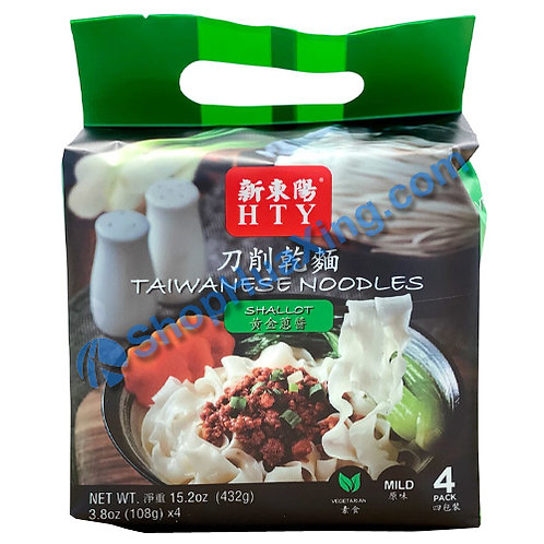 03 HTY Taiwanese Noodles Shallot Flv. 新东阳 刀削干面 黄金葱酱 432g