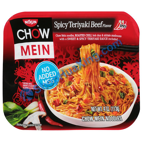 03 Nissin Chow Mein Spicy Teriyaki Beef Flv. 日清炒面 辣红烧牛肉 4oz
