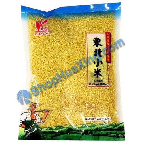 04 Dried Hulled Millet 天成 东北小米 12oz