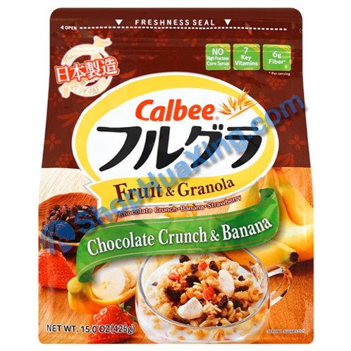 09 Calbee Fruit & Granola Chocolate Banana 早餐麦片 巧克力/香蕉 15oz