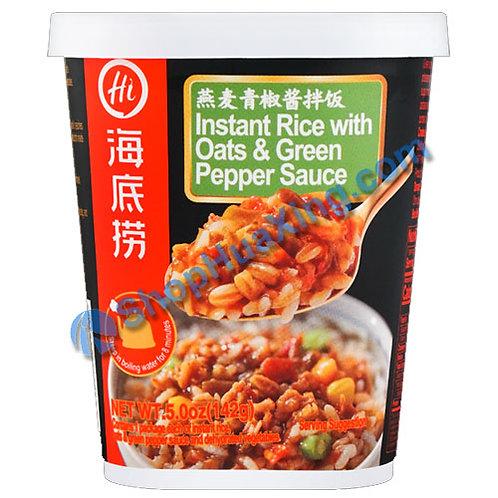 03 Instant Rice w. Oats & Green Pepper Sauce 海底捞燕麦青椒酱拌饭 142g
