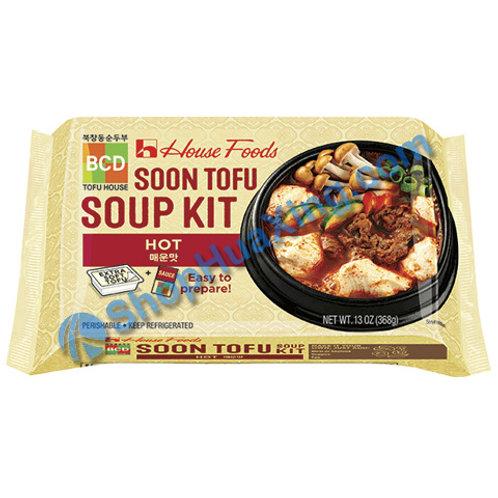 04 House Foods Soon Tofu Soup Kit Hot 豆腐汤料 辣 13oz