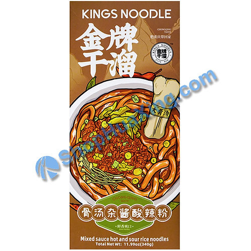 03 Kings Noodle Mixed Sauce Hot & Sour Flv  金牌干溜 骨汤杂酱酸辣粉 340g