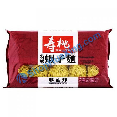 03 SauTao Shrimp Egg Noodle (thin) 寿桃牌 特级虾子面 454g