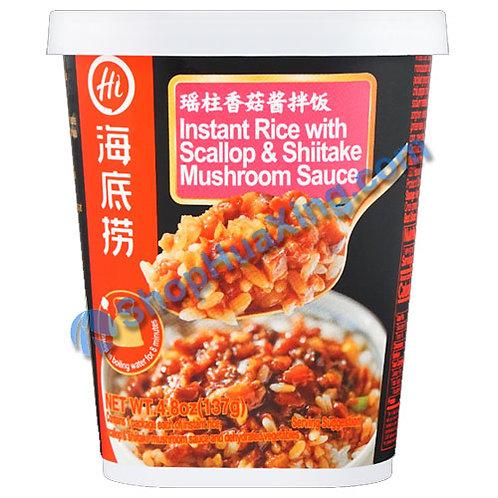 03 Instant Rice w. Scallop & Shiitake Mushroom Sauce 海底捞瑶柱香菇酱拌饭 137g