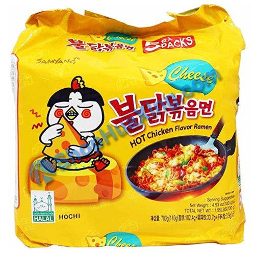03 Samyang Hot Chicken Flv Ramen Cheese 韩式起司辣鸡味方便面 5包装X140g