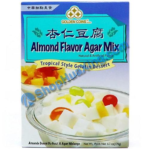 03 Golden Coins Almond Flv. Agar Mix 三钱 杏仁豆腐粉 176g