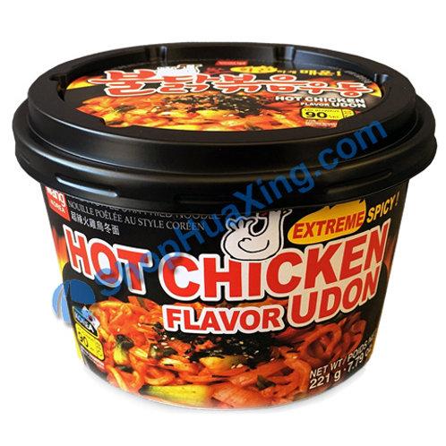 03 Wang Korea Hot Chicken Flv Udon Extreme Spicy 韩式超辣火鸡乌冬面碗装 221g