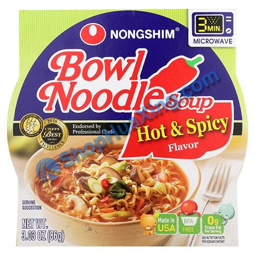 03 NongShim Bowl Noodle Soup Hot & Spicy Flv. 农心 辣味汤面 碗装 86g