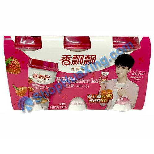 04 Strawberry Flv Milk Tea 香飘飘 草莓味奶茶 3杯 240g