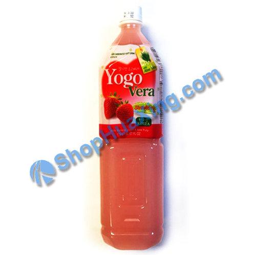 04 Yogurde Savila With Aloe Vera Strawberry Flv 韩式乳酸饮料  草莓味 1.5L