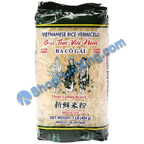 03 Vietnamese Rice Vermicelli 三个女人 新鲜米粉 454g